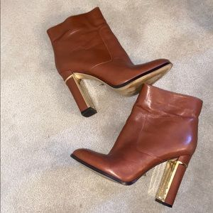 Brown Calvin Klein ankle boots